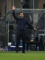 Football Soccer: UEFA Champions League FC Internazionale Milano vs Tottenham Hotspur FC, Giuseppe Meazza stadium, September 15, 2018.<br /> Tottenham's coach Mauricio Pochettino gestures during the Uefa Champions League football match between Internazionale Milano and Tottenham Hotspur at Giuseppe Meazza (San Siro) stadium, September 18, 2018.<br /> UPDATE IMAGES PRESS/Isabella Bonotto