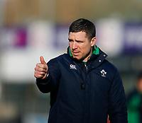 2nd February 2020; Energia Park, Dublin, Leinster, Ireland; International Womens Rugby, Six Nations, Ireland versus Scotland; Adam Giggs Ireland head coach prior to kickoff