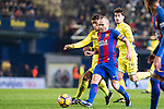 Andres Iniesta Lujan of FC Barcelona battles for the ball with Jonathan Dos Santos of Villarreal CF during their La Liga match between Villarreal and FC Barcelona at the Estadio de la Cerámica on 08 January 2017 in Villarreal, Spain. Photo by Maria Jose Segovia Carmona / Power Sport Images