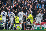 Cristiano Ronaldo of Real Madrid celebrates during their La Liga match between Real Madrid and Valencia CF at the Santiago Bernabeu Stadium on 29 April 2017 in Madrid, Spain. Photo by Diego Gonzalez Souto / Power Sport Images