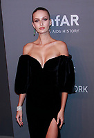 NEW YORK, NY - FEBRUARY 6: Kristina Romanova arriving at the 21st annual amfAR Gala New York benefit for AIDS research during New York Fashion Week at Cipriani Wall Street in New York City on February 6, 2019. <br /> CAP/MPI99<br /> &copy;MPI99/Capital Pictures