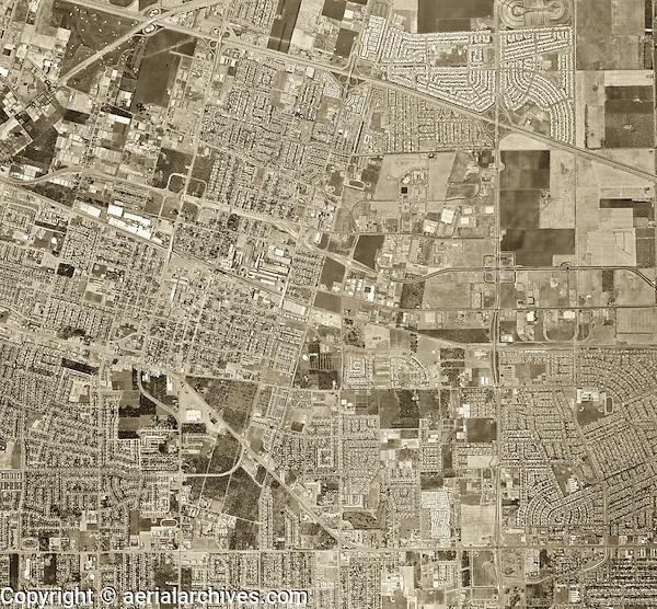 historical aerial photograph Sunnyvale, Santa Clara county, California, 1968