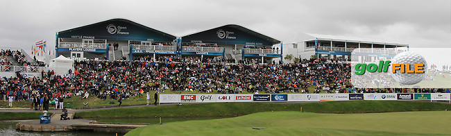 Part of the crowd at the 18th green during Round 4 of the 100th Open de France, played at Le Golf National, Guyancourt, Paris, France. 03/07/2016. <br /> Picture: Thos Caffrey | Golffile<br /> <br /> All photos usage must carry mandatory copyright credit   (&copy; Golffile | Thos Caffrey)
