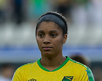 GRENOBLE, FRANCE - JUNE 18: Chantelle Swaby #4 of the Jamaican National Team during a game between Jamaica and Australia at Stade des Alpes on June 18, 2019 in Grenoble, France.