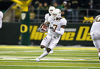 October 6th, 2011:  D.J. Campbell California runs down the field after his interception during a game against Oregon at Autzen Stadium in Eugene, Oregon - Oregon defeated Cal 43 - 15