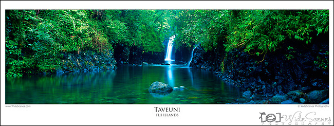 PP0828 Taveuni Waterfall, Fiji Islands Poster. <br /> Size: 595mm x 210mm<br /> Available: 13 only<br /> Price: AUD$12.95 + Postage