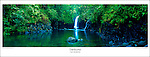 PP0828 Taveuni Waterfall, Fiji Islands Poster. <br />