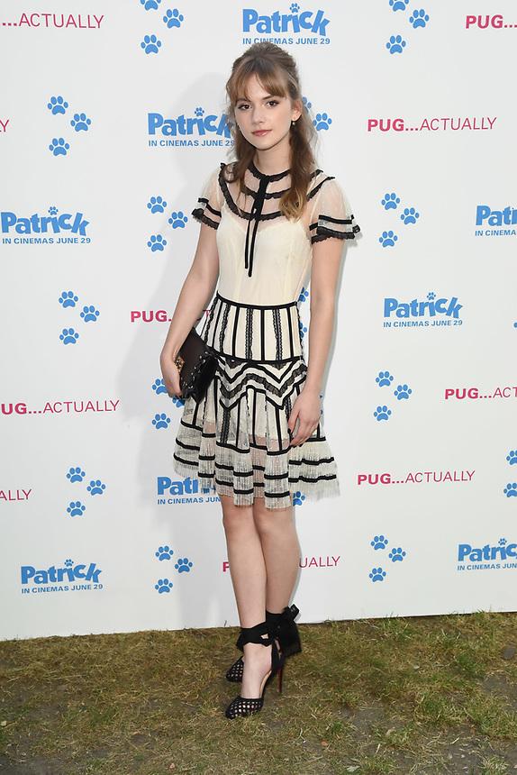 "Emilia Jones<br /> arriving for the ""Patrick"" UK premiere, London<br /> <br /> ©Ash Knotek  D3411  27/06/2018"