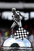 May 28th Indianapolis Speedway, Indiana, USA;  The Borg-Warner Trophy is displayed on pit road during the Indianapolis 500 on May 28th, 2017, at the Indianapolis Motor Speedway in Indianapolis, Indiana.