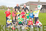 Maurice Fitzgerald who trains the young Kilmoyley hurlers as he was training them on Sunday mornning at Kilmoyley NS Sports field he met up with one of Kilmoyleys greats Declan Lovett Declan played with Kilmoyley from 1960-'88, and Maurice playing hurling from 1974 to the present day, the children he was training were, Colm McElligott, Conor Nolan, Odhran Maunsell, Robert Monnihan, Cian O'Sullivan, Darragh Corridon,Darragh McElligott, Tomás Godley, Amy Corridon, Lauren Nolan, Oisín Kearney, Cian McElligott and James Godley.