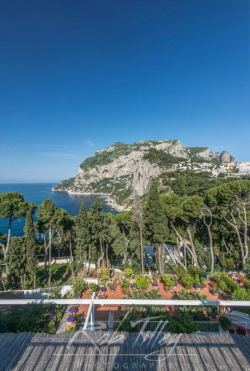 Europe, Italy, Isle of Capri, Capri Town, Hotel Bacony View of Anacapri