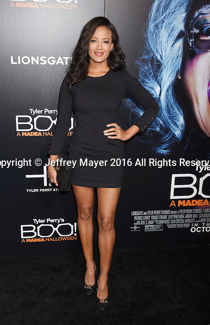HOLLYWOOD, CA - OCTOBER 17: Actress Heather Hemmens attends the premiere of Lionsgate's 'Boo! A Madea Halloween' at the ArcLight Cinerama Dome on October 17, 2016 in Hollywood, California.