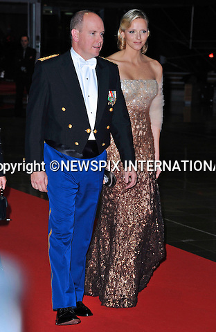 """MONACO NATIONAL DAY 2010 (Fête Nationale Monégasque 2010).Prince Albert accompanied by his fiancée Charlene Wittstock and sister Caroline, Princess of Hanover attend the Opera at the Grimaldi Forum as past of Monaco's National Day celebrations. Monaco_19/11/2010 .Mandatory Photo Credit: ©Dias/Newspix International..**ALL FEES PAYABLE TO: """"NEWSPIX INTERNATIONAL""""**..PHOTO CREDIT MANDATORY!!: NEWSPIX INTERNATIONAL(Failure to credit will incur a surcharge of 100% of reproduction fees)..IMMEDIATE CONFIRMATION OF USAGE REQUIRED:.Newspix International, 31 Chinnery Hill, Bishop's Stortford, ENGLAND CM23 3PS.Tel:+441279 324672  ; Fax: +441279656877.Mobile:  0777568 1153.e-mail: info@newspixinternational.co.uk"""