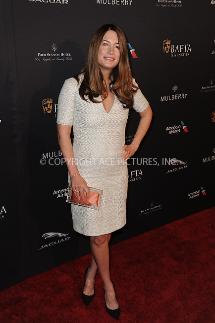 WWW.ACEPIXS.COM<br /> <br /> January 10 2015, LA<br /> <br /> Gillian Flynn attending the 2015 BAFTA Tea Party at The Four Seasons Hotel on January 10, 2015 in Beverly Hills, California.<br /> <br /> By Line: Peter West/ACE Pictures<br /> <br /> <br /> ACE Pictures, Inc.<br /> tel: 646 769 0430<br /> Email: info@acepixs.com<br /> www.acepixs.com