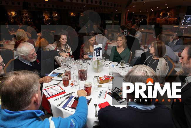 Pre match hospitality before the Championship Cup match between London Scottish Football Club and Ealing Trailfinders at Richmond Athletic Ground, Richmond, United Kingdom on 23 November 2018. Photo by Harry Hubbard/PRiME Media Images