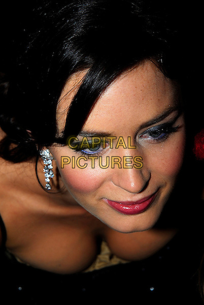 EMILY BLUNT.The Orange British Academy Film Awards (BAFTA's) held at the Royal Opera House, Covent Garden, London, UK..February 11th, 2007.headshot portrait cleavage.CAP/PL.©Ian Allis/Capital Pictures