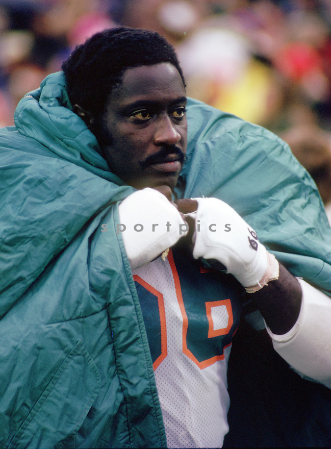 Miami Dolphins Larry Little (66) sideline portrait from his 1973 season with the Miami Dolphins. Larry Little played for 14 season with 2 different teams, was a 5-time Pro Bowler and was inducted into the Pro Football Hall of Fame in 1993.(SportPics)