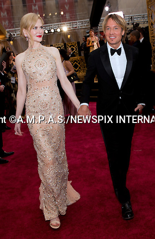 26.02.2017; Hollywood, USA: NICOLE KIDMAN and KEITH URBAN<br /> attends The 89th Annual Academy Awards at the Dolby&reg; Theatre in Hollywood.<br /> Mandatory Photo Credit: &copy;AMPAS/NEWSPIX INTERNATIONAL<br /> <br /> <br /> IMMEDIATE CONFIRMATION OF USAGE REQUIRED:<br /> Newspix International, 31 Chinnery Hill, Bishop's Stortford, ENGLAND CM23 3PS<br /> Tel:+441279 324672  ; Fax: +441279656877<br /> Mobile:  07775681153<br /> e-mail: info@newspixinternational.co.uk<br /> Usage Implies Acceptance of Our Terms &amp; Conditions<br /> Please refer to usage terms. All Fees Payable To Newspix International