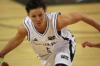 Tall Ferns guard Zoe Kensington during the International women's basketball match between NZ Tall Ferns and Australian Opals at Te Rauparaha Stadium, Porirua, Wellington, New Zealand on Monday 31 August 2009. Photo: Dave Lintott / lintottphoto.co.nz