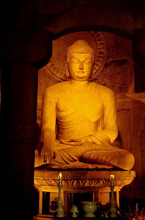 Sakayamuni Buddha, Sokkuram Grotto Temple, Kyongju, South Korea