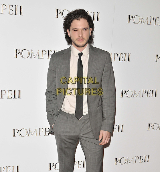 "LONDON, ENGLAND - APRIL 28: Kit Harington attends the ""Pompeii"" VIP film screening, Vue West End cinema, Leicester Square, on Monday April 28, 2014 in London, England, UK."