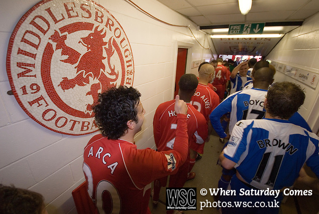 Middlesbrough 0 Wigan Athletic 0, 21/02/2009. The Riverside Stadium, Middlesbrough. Premier League. Photo by Paul Thompson.