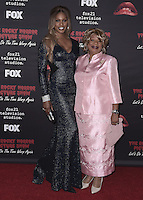 "WEST HOLLYWOOD, CA - OCTOBER 13, 2016:  Laverne Cox and Gloria Cox at the red carpet premiere of Fox's ""The Rock Horror Picture Show: Lets Do the Time Warp Again"" at The Roxy on October 13, 2016 in West Hollywood, California. Credit: mpi991/MediaPunch"