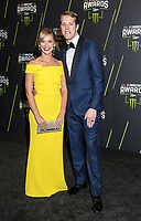 LAS VEGAS, NV - NOVEMBER 30: Brad Keselowski and Paige Keselowski arriving to the 2017 NASCAR Sprint Cup Awards at The Wynn Hotel & Casino in Las Vegas, Nevada on November 30, 2017. Credit: Damairs Carter/MediaPunch /NortePhoto NORTEPHOTOMEXICO