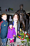 Edward, Charlotte and Hannah Stack (Fenit.at the unveiling of the mounement to lost fishermen at Fenit Pier on Sunday