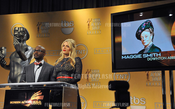 Busy Philipps & Taye Diggs announce the nominations for the 19th Annual Screen Actors Guild Awards at the Pacifoc Design Centre, West Hollywood..December 12, 2012  Los Angeles, CA.Picture: Paul Smith / Featureflash