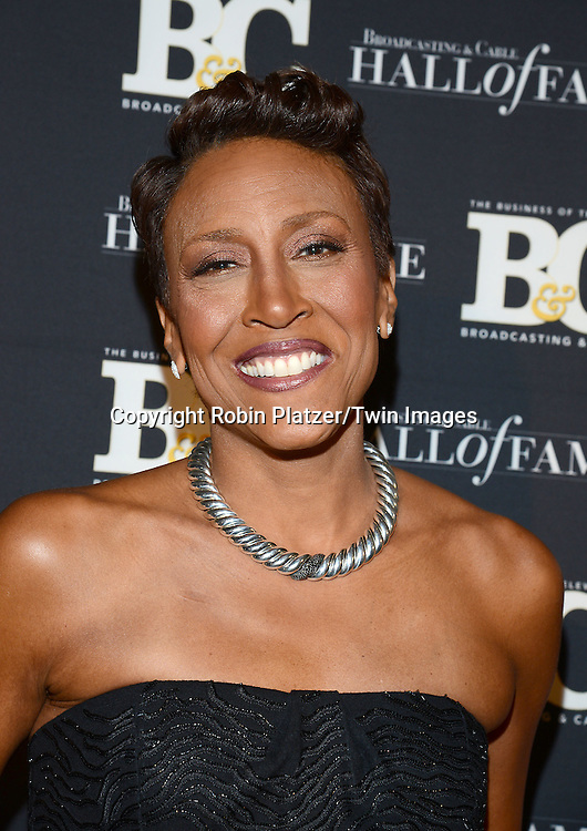 honoree Robin Roberts  attends the 24th Annual Broadcasting &amp; Cable Hall of Fame Awards Dinner on October 20, 2014 at The Waldorf Astoria Hotel in New York City. <br /> <br /> photo by Robin Platzer/Twin Images<br />  <br /> phone number 212-935-0770