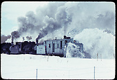 Rotary OM with D&amp;RGW #487 and #483 K-36 plowing snow.<br /> D&amp;RGW  Chama area, NM