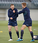 Scotland rugby training 5.3.2018<br /> Byron McGuigan and Chris Harris