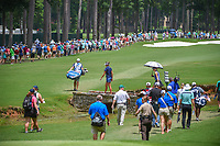 Lexi Thompson (USA), Michelle Wie (USA), and Jessica Korda (USA) head down 11 to a packed gallery during round 2 of the U.S. Women's Open Championship, Shoal Creek Country Club, at Birmingham, Alabama, USA. 6/1/2018.<br /> Picture: Golffile | Ken Murray<br /> <br /> All photo usage must carry mandatory copyright credit (&copy; Golffile | Ken Murray)