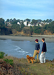 Enjoying the view, across the bay from Mendocino, CA.  Model released..CD scan from 35mm chrome.  © John Birchard