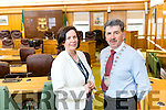 Moira Murrell, CEO Kerry County Council and Michael O'Shea, Mayor of Kerry at County Buildings, Tralee.