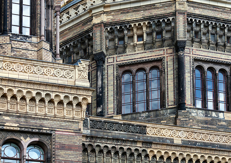 Detail from the New Synagogue building, Berlin, Germany