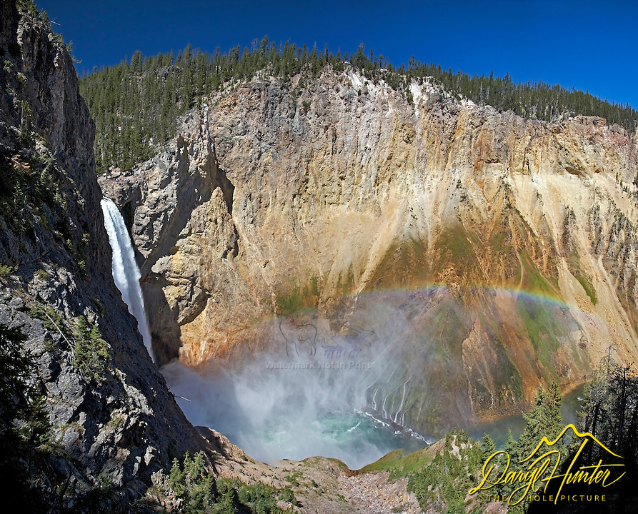 Brink of Lower Yellowstone Falls, Uncle Tom's Trail, Yellowstone National Park,