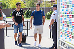 Spanish player Marco Asensio and Lucas Vazquez arrives to concentration of Spanish football team at Ciudad del Futbol de Las Rozas before the qualifying for the Russia world cup in 2017 August 29, 2016. (ALTERPHOTOS/Rodrigo Jimenez)