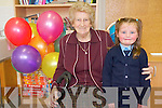 Pictured at the day of celebration at Holymount National School in Rathmore were 91-year old Norrie Guerin who attended the school pictured with the youngest pupil ?