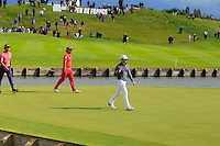 Rory McIlroy (NIR) walks onto the 18th green during Round 2 of the 100th Open de France, played at Le Golf National, Guyancourt, Paris, France. 01/07/2016. <br /> Picture: Thos Caffrey | Golffile<br /> <br /> All photos usage must carry mandatory copyright credit   (&copy; Golffile | Thos Caffrey)