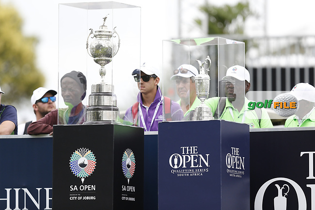 The South African Cup and The Claret Jug during the final round of the SA Open, Randpark Golf Club, Johannesburg, Gauteng, South Africa. 8/12/18<br /> Picture: Golffile | Tyrone Winfield<br /> <br /> <br /> All photo usage must carry mandatory copyright credit (© Golffile | Tyrone Winfield)