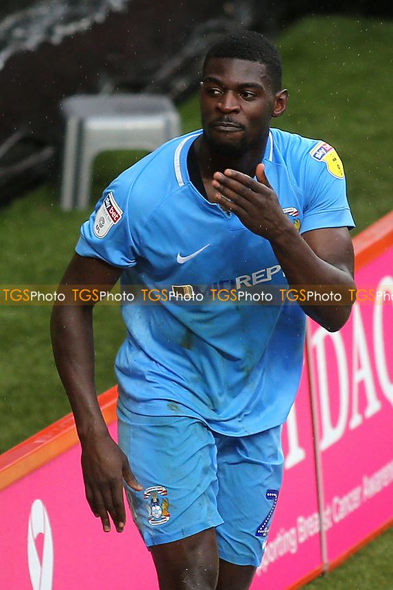 Amadou Bakayoko celebrates scoring Coventry City's second goal during Charlton Athletic vs Coventry City, Sky Bet EFL League 1 Football at The Valley on 6th October 2018