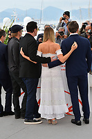 "CANNES, FRANCE. May 22, 2019: Brad Pitt, Quentin Tarantino, Margot Robbie & Leonardo DiCaprio at the photocall for ""Once Upon a Time in Hollywood"" at the 72nd Festival de Cannes.<br /> Picture: Paul Smith / Featureflash"
