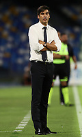 5th July 2020; Stadio San Paolo, Naples, Campania, Italy; Serie A Football, Napoli versus Roma; Paulo Fonseca coach of AS Roma