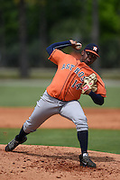 Houston Astros pitcher Rogelio Armenteros (14) during a minor league spring training game against the Detroit Tigers on March 25, 2015 at Tiger Town in Lakeland, Florida.  (Mike Janes/Four Seam Images)