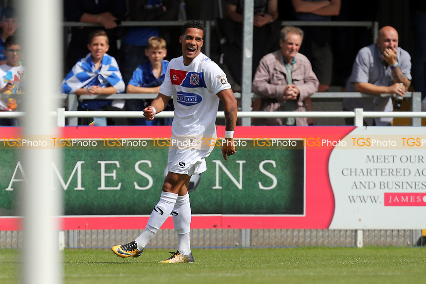 Corey Whitely of Dagenham celebrates scoring the opening goal during Eastleigh vs Dagenham & Redbridge, Vanarama National League Football at the Silverlake Stadium on 12th August 2017