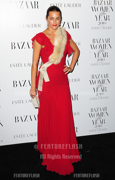 Yasmin Le Bon arriving at The Harpers Bazaar Women of the Year Awards 2010, Mayfair, London. 01/10/2010 Picture by: Simon Burchell / Featureflash.