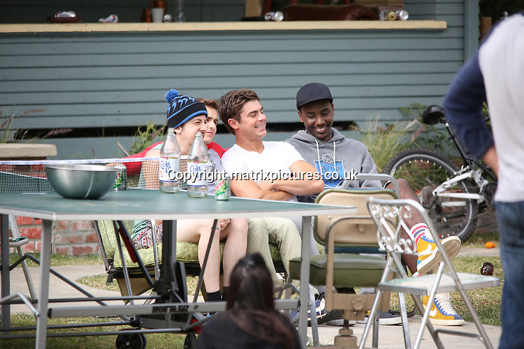 "NON EXCLUSIVE PICTURE: MATRIXPICTURES.CO.UK.PLEASE CREDIT ALL USES..UK, AUSTRALIA, NEW ZEALAND AND ASIA RIGHTS ONLY..American actor Zac Efron is spotted filming scenes for ""The Townies"" in Los Angeles...MAY 8th 2013..REF: KDA 133064..LULAX"