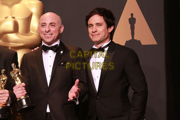 26 February 2017 - Hollywood, California - Marc Sondheimer, Gael Garcia Bernal. 89th Annual Academy Awards presented by the Academy of Motion Picture Arts and Sciences held at Hollywood &amp; Highland Center. <br /> CAP/ADM/TB<br /> &copy;TB/ADM/Capital Pictures